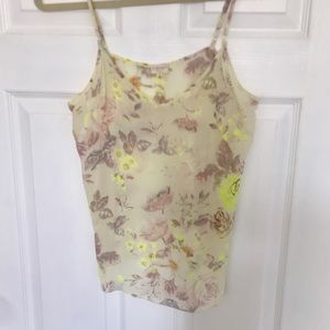 Aritzia Wilfred Silk Tank Top, Small Floral